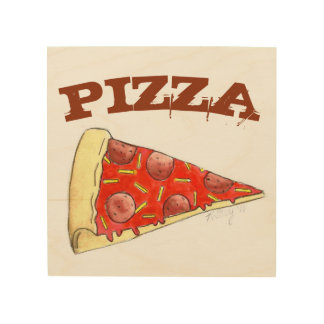 Pepperoni Pizza Slice Foodie Food Kitchen Decor