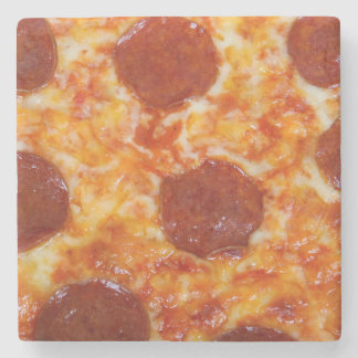 Pepperoni Pizza Stone Coaster