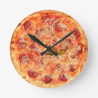 Pepperoni Pizza Time Wall Clocks