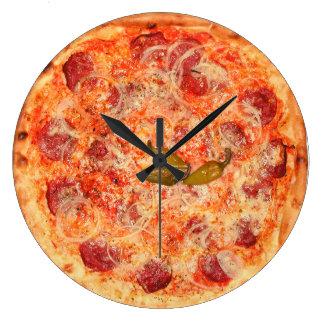 Pepperoni Pizza Time Wallclock