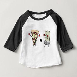 Pepperoni Pizza VS Burrito: Mexican versus Italian Baby T-Shirt