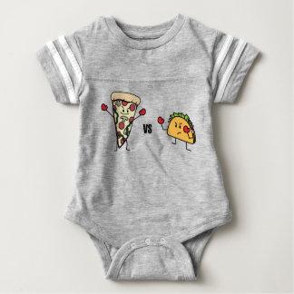 Pepperoni Pizza VS Taco: Mexican versus Italian Baby Bodysuit