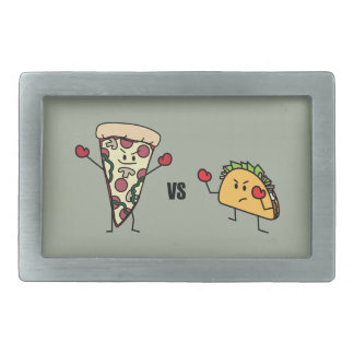 Pepperoni Pizza VS Taco: Mexican versus Italian Belt Buckles