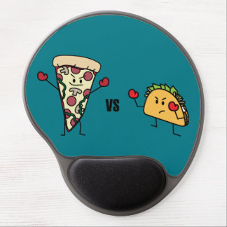 Pepperoni Pizza VS Taco: Mexican versus Italian Gel Mouse Mat