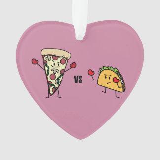 Pepperoni Pizza VS Taco: Mexican versus Italian Ornament