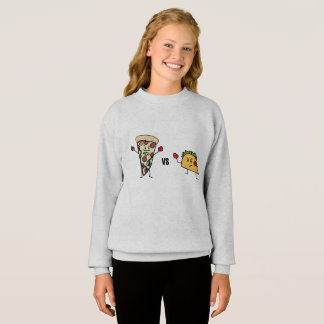 Pepperoni Pizza VS Taco: Mexican versus Italian Sweatshirt