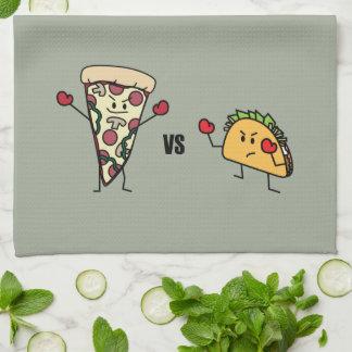 Pepperoni Pizza VS Taco: Mexican versus Italian Tea Towel