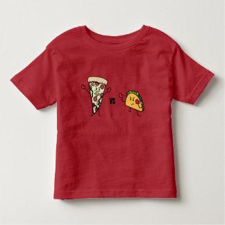 Pepperoni Pizza VS Taco: Mexican versus Italian Toddler T-Shirt