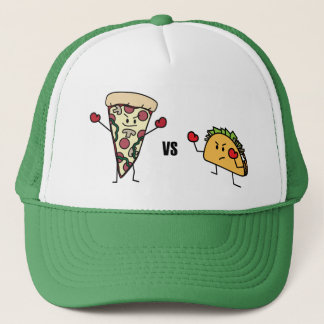 Pepperoni Pizza VS Taco: Mexican versus Italian Trucker Hat