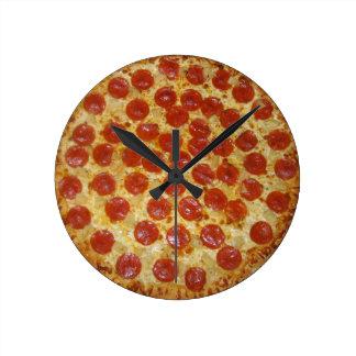 Pepperoni pizza wall clocks
