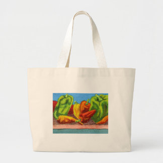 """Peppers #1"" Veggie Design Tote Bag"