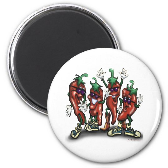 Peppers 6 Cm Round Magnet
