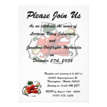 Peppers abstract square graphic custom invites