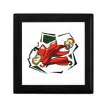 Peppers abstract square graphic keepsake box