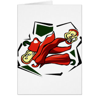 Peppers abstract square graphic note card