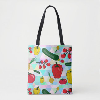 Peppers and Tomatoes Graphics Tote Grocery Bag