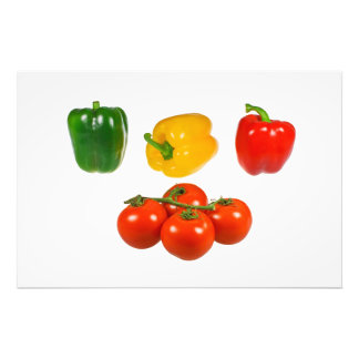 Peppers and tomatoes photographic print