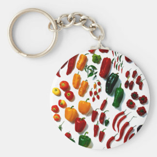 Peppers Basic Round Button Key Ring