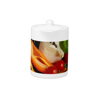 Peppers Basil Tomatoes Garlic