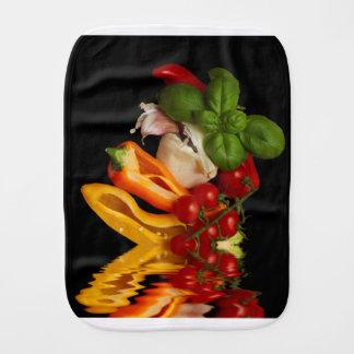 Peppers Basil Tomatoes Garlic Burp Cloth