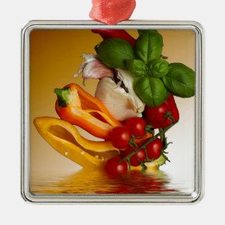 Peppers Basil Tomatoes Garlic Christmas Ornament
