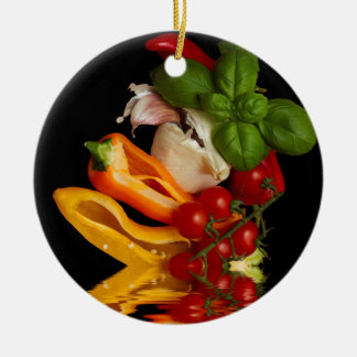 Peppers Basil Tomatoes Garlic Christmas Ornament