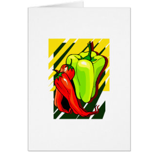 Peppers chili and yellow on yellow bg cards