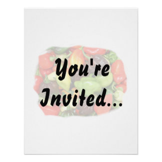 Peppers hot and spicy photograph custom invitation
