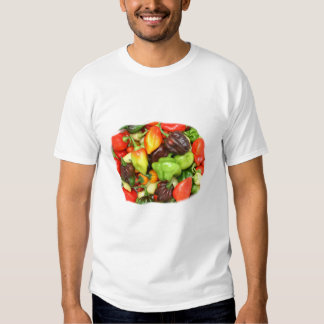 Peppers, hot and spicy photograph tshirts