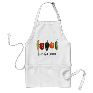 Peppers in a Row Apron