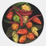 Peppers Round Sticker