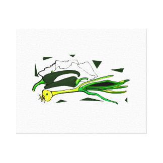 peppers scallions green graphic canvas prints