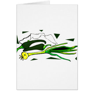 peppers scallions green graphic note card
