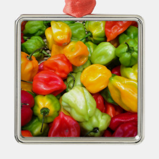 peppers Silver-Colored square decoration