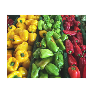 Peppers!!! Wrapped Canvas 16x20