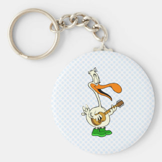 Peppy Pelican Basic Round Button Key Ring