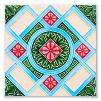 Peranakan Floral Tiles Photo Print