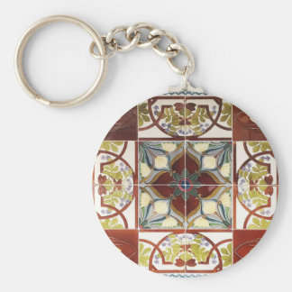 Peranakan Tile Keychain