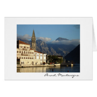Perast, Montenegro Greeting Card