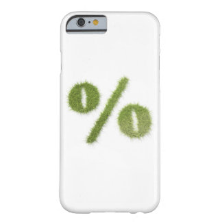 Percentage symbol made of grass barely there iPhone 6 case