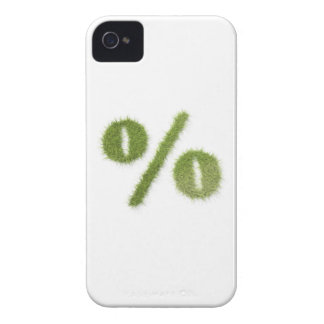 Percentage symbol made of grass iPhone 4 case