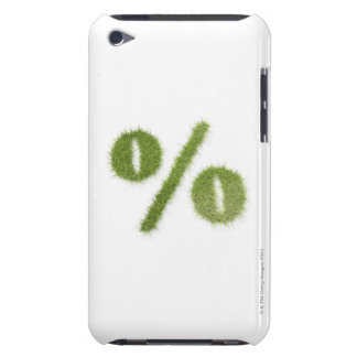Percentage symbol made of grass iPod touch cover
