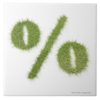 Percentage symbol made of grass tile