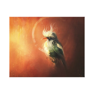Perception of a fancy bird Stretched Canvas Print