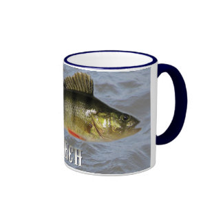 Perch Freshwater Fish, With Water Background Image Ringer Mug