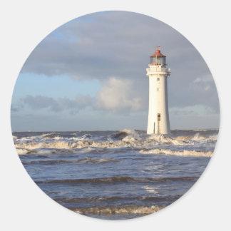Perch Rock Lighthouse, New Brighton Classic Round Sticker