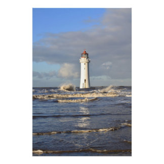 'Perch Rock Lighthouse, New Brighton Poster