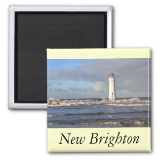 Perch Rock Lighthouse, New Brighton Square Magnet