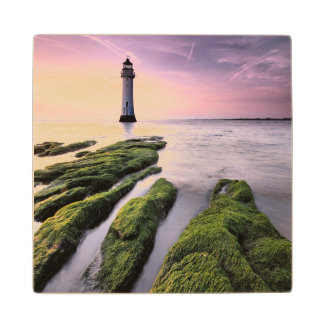 Perch Rock Lighthouse Wood Coaster