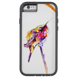 """'Perch Two"" Hummingbird Print on Tough Xtreme iPhone 6 Case"